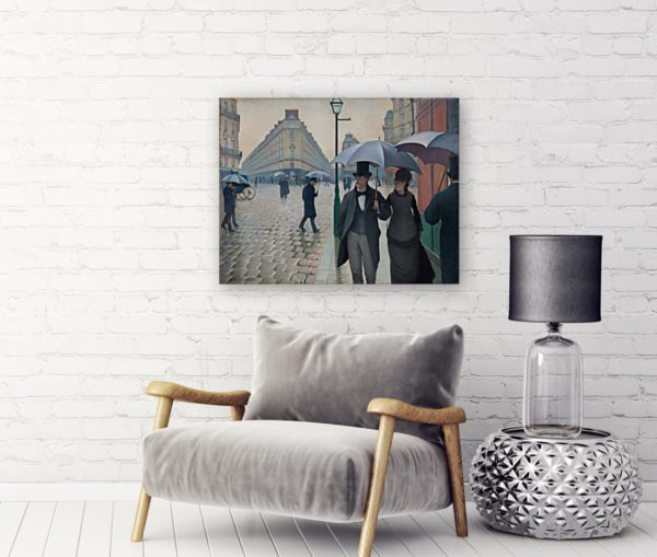 Paris Street In Rainy Weather
