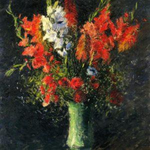 Photo of Vase of Gladiolas painting