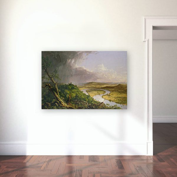 Photo of river painting in gallery