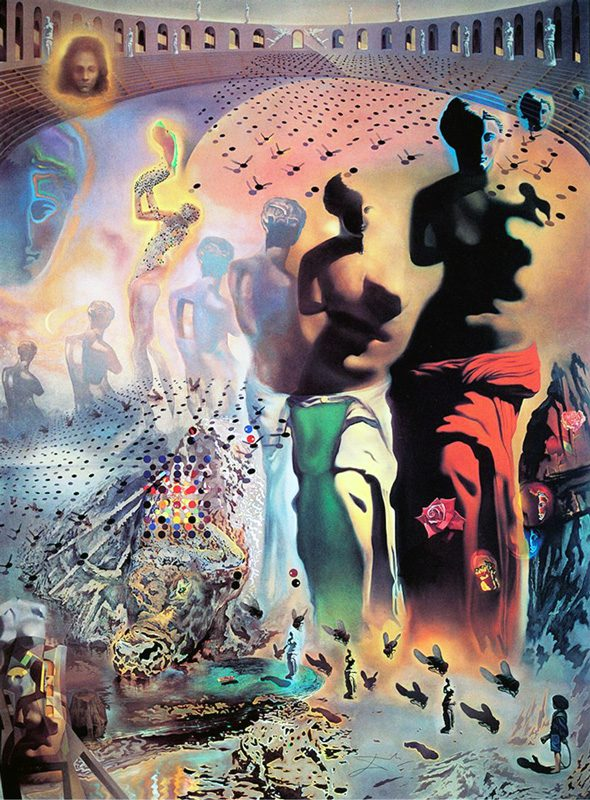 Photo of psychedelic-clothing painting
