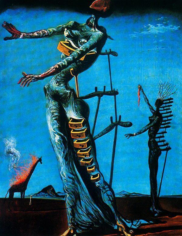 Photo of the-burning-giraffe painting