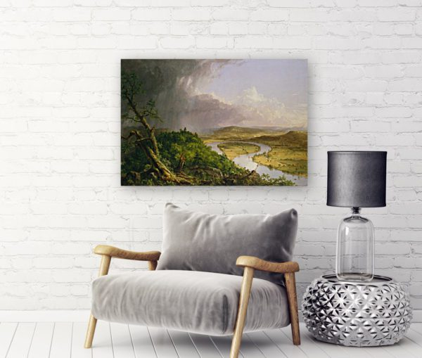 Photo of river painting in living room