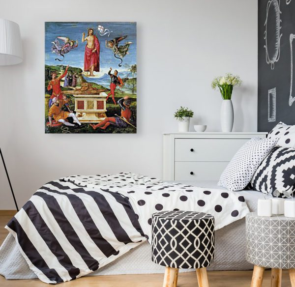 Photo of Resurrection of Christ painting in modern bedroom