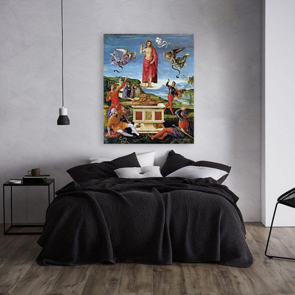 Photo of Resurrerction of Christ in modern bedroom