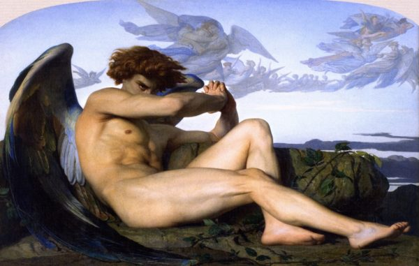 Photo of Fallen Angel paintiing by alexandre Cabanel