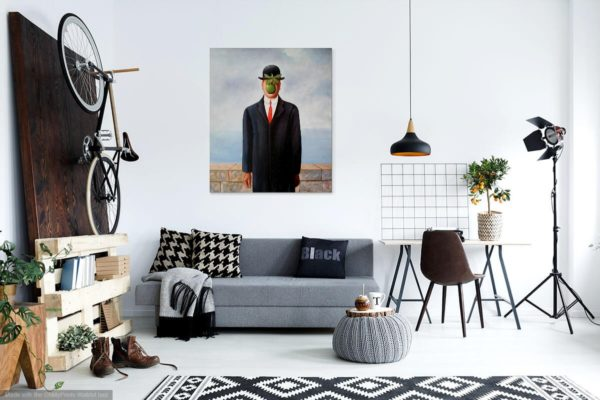 Photo of Son of Man painting in modern lounge