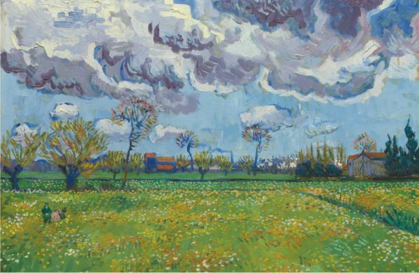 Vincent Van Gogh Landscape Under a Stormy Sky