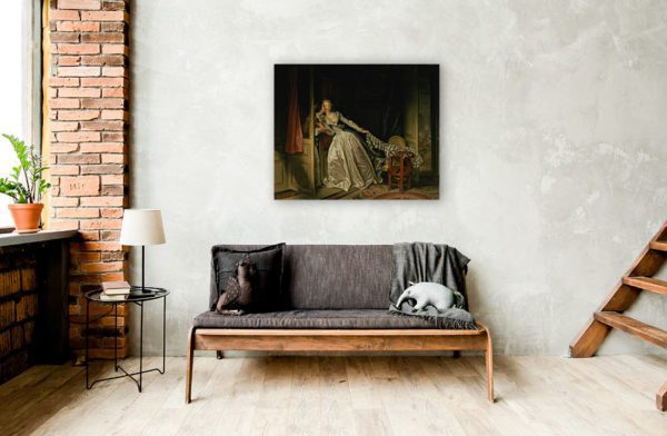 Photo Of The Stolen kiss Painting Wall Art Canvas Print Low Price