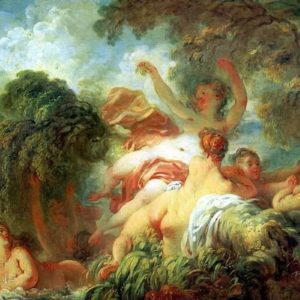 The Bathers Painting By Jean-Honoré Fragonard Wall Art Canvas Print