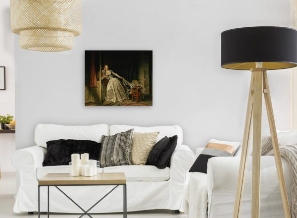 Photo Of The Stolen kiss Painting Wall Art Canvas Print 4