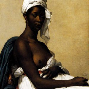 Painting Of A Black Woman - Portrait Of A Nigresse