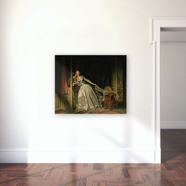 Photo Of The Stolen kiss Painting Wall Art Canvas Print