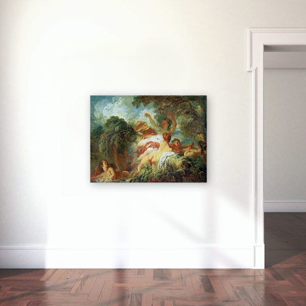 The Bathers Painting By Jean-Honoré Fragonard Wall Art Canvas Print 6