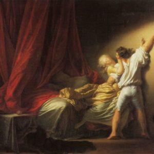 "Jean-Honoré Fragonard's ""The Bolt"" (circa 1777), from ""The Libertine."" Lavelart.comn"