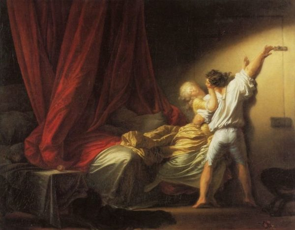 "Jean-Honoré Fragonard's ""The Bolt"" (circa 1777), from ""The Libertine."" Lavelart.comn"