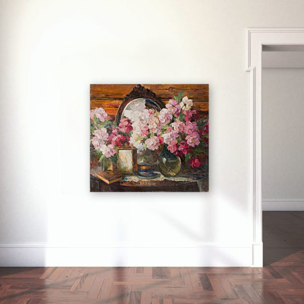 Painting Of Peonies Flowers Wall Art Canvas Print For Sale Lavelart