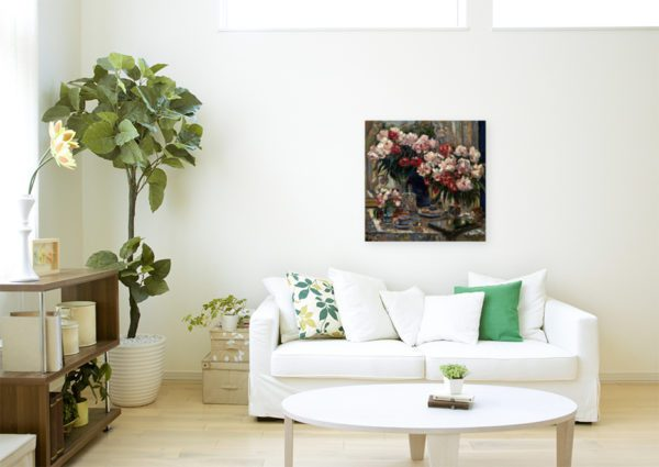 Photo of Still Life With Peonies By Alexander Gerassimov Wall Art Canvas Print