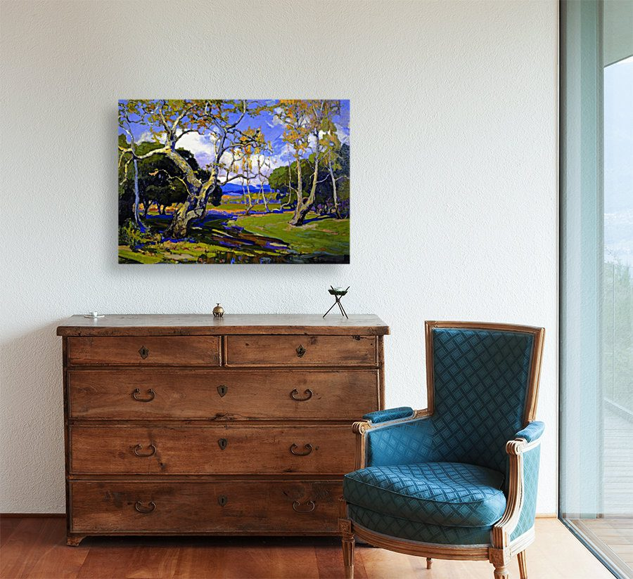 photo of painting of landscape wall art canvas pring lavelart