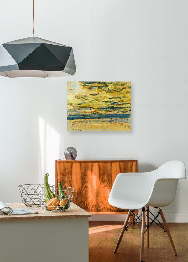 Lavel Sky By Eugene Boudin Canvas print