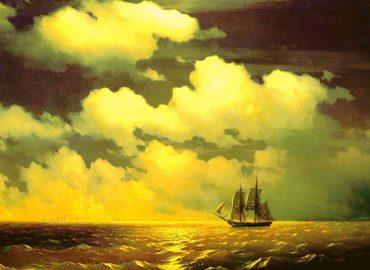 Brig Mercury. Description of a painting by Aivazovsky