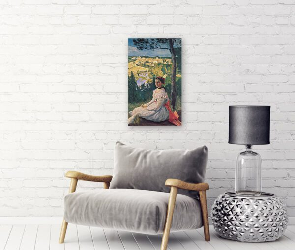Painting of a girl canvas print