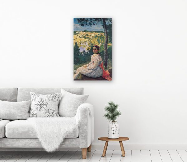 Girl Painting In France Canvas Print