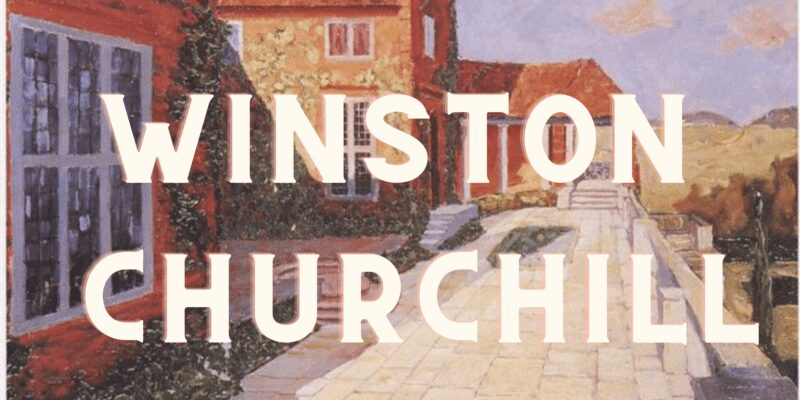 Photo of Winston Churchill painting images video compilation