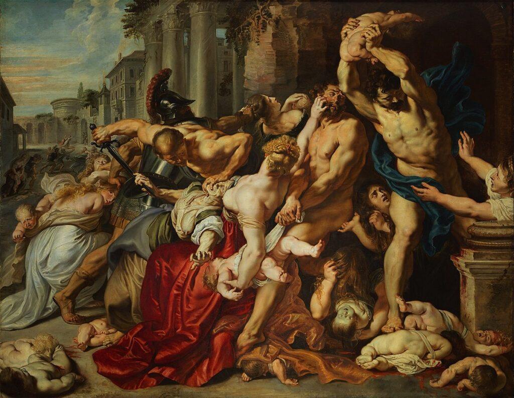 «Beating Babies,» Peter Rubens