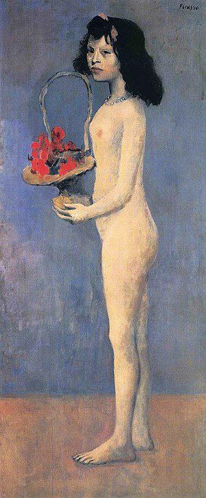 «Flower basket girl,» Pablo Picasso