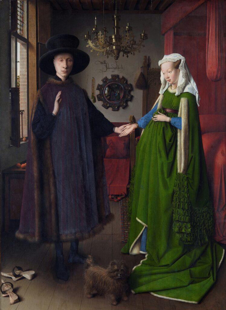 «Portrait of the Arnolfini couple,» Jan van Eyck