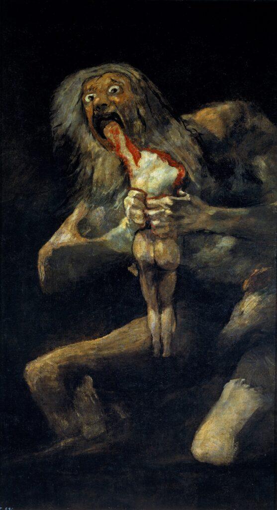 «Saturn devouring his son,» Francisco Goya