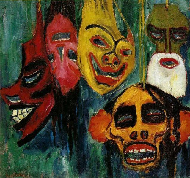 «Still Life from Masks,» Emil Nolde