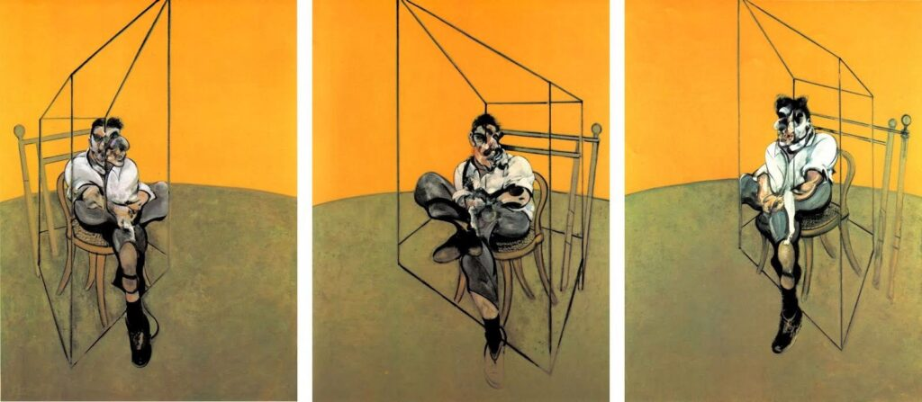 «Three sketches with Lucien Freud,» Francis Bacon
