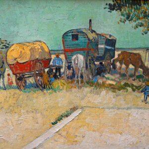 Encampment of Gypsies with Caravans