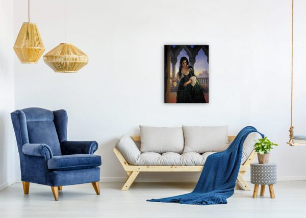 beautiful woman painting print canvas photo