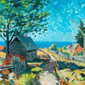 Richard Uutmaa shore painting photo wallart