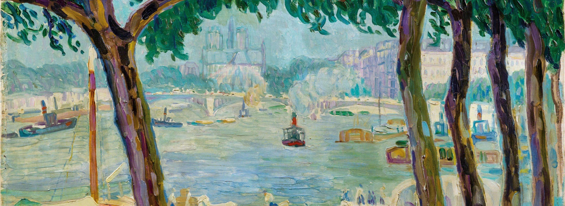 View of Notre Dame from Port Henry IV in Paris
