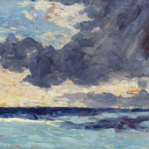 photo of Seascape with Rain Clouds Winston Churchill Print On Canvas