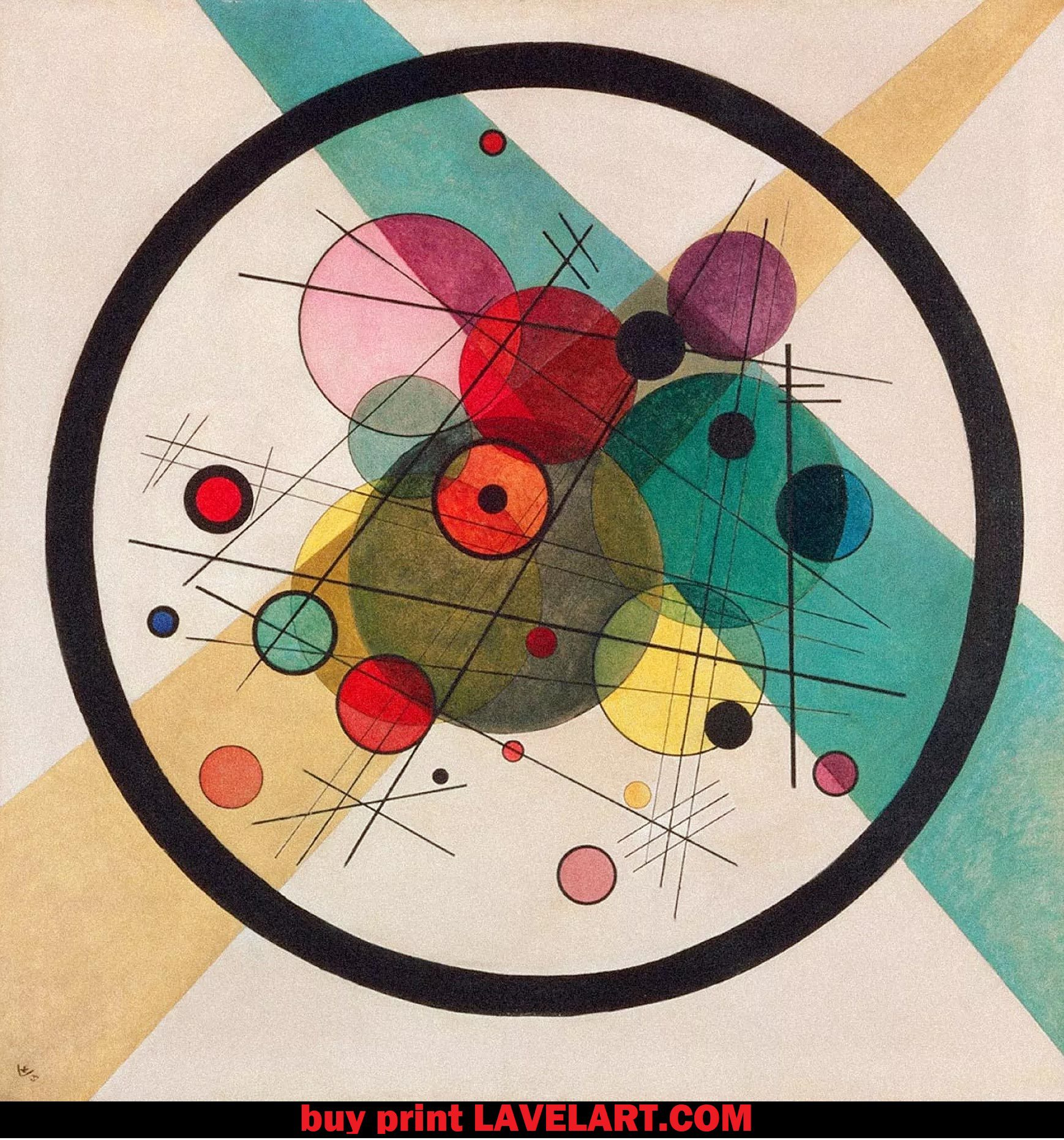 Circles in a Circle Print by Wassily Kandinsky