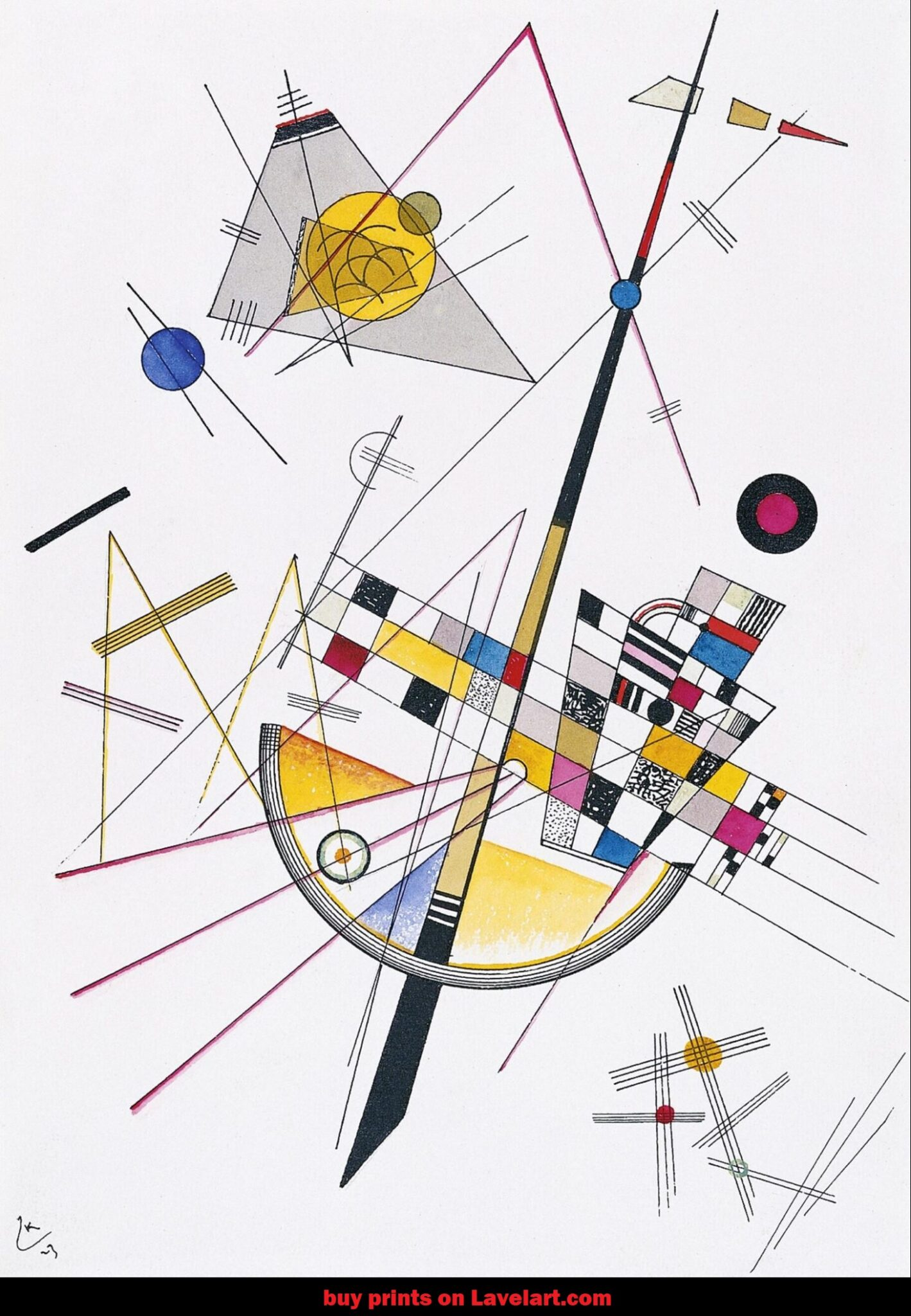 Delicate Tension No 85 by Wassily Kandinsky canvas print photo image