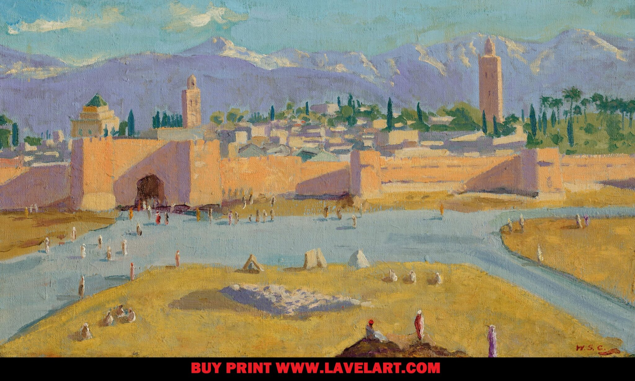 the Tower of Koutoubia Mosque Print