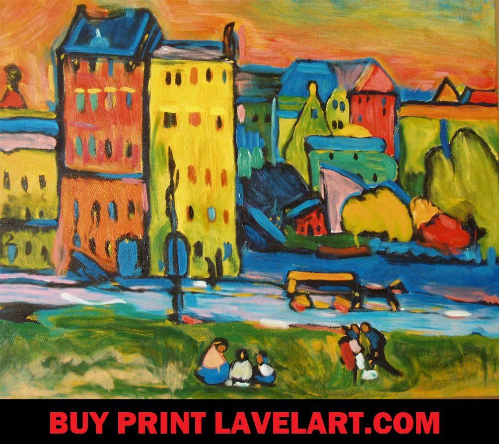 Houses in Munich Wassily Kandinsky Print