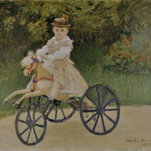 Photo of Jean Monet On His Hobby Horse LAvelart wallart photo canvas print painting