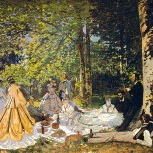 Luncheon on the grass Claude Monet Canvas Print Photo Wallart Lavelart