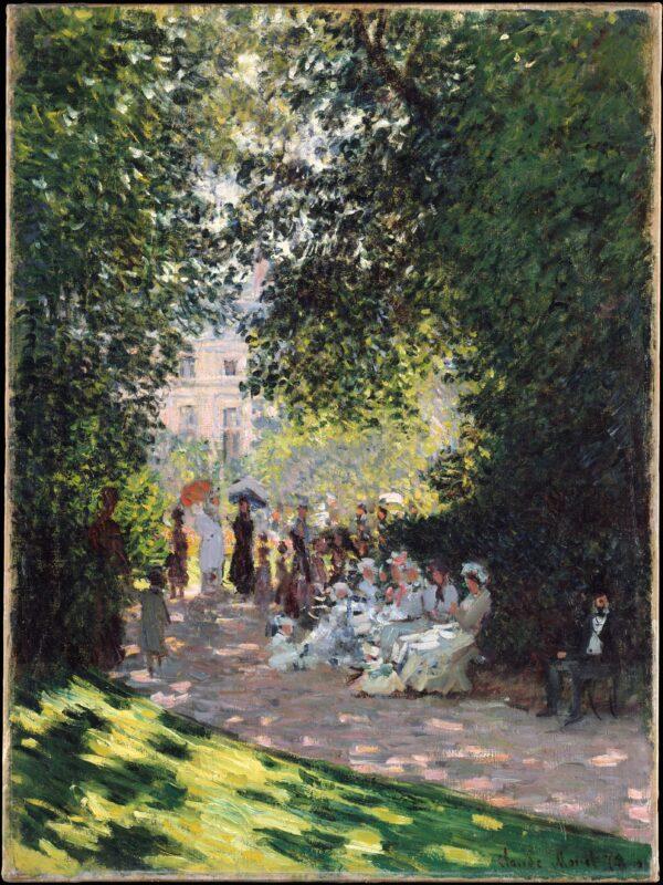 The Parc Monceau photo print canvas