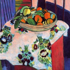 Photo of Basket with Oranges Print On Canvas