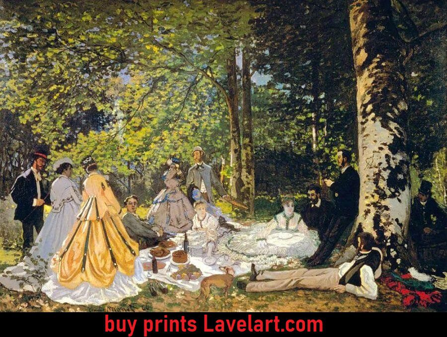 Luncheon on the grass canvas print art photo img