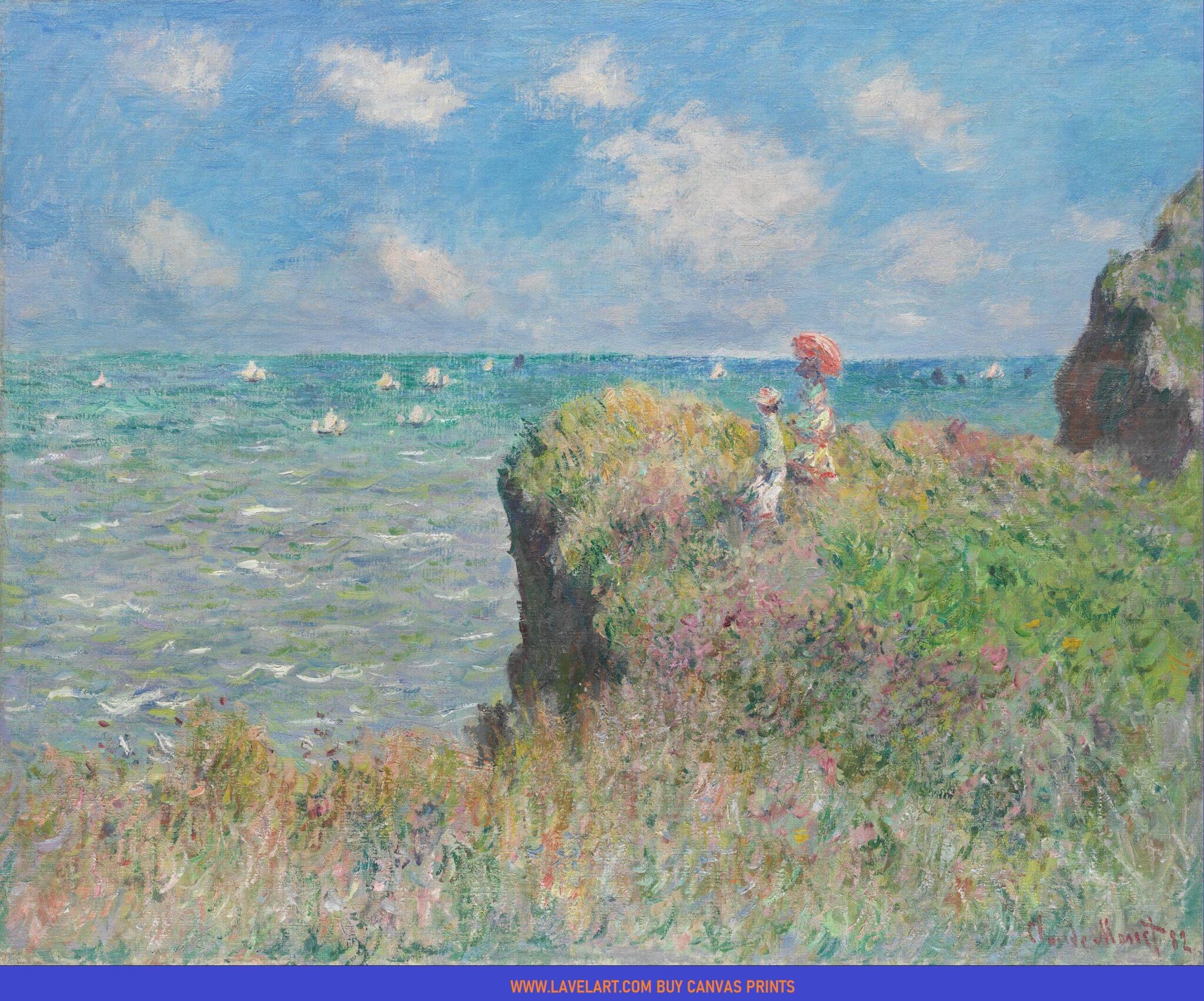 The Cliff Walk Pourville Print On Canvas Photo Image