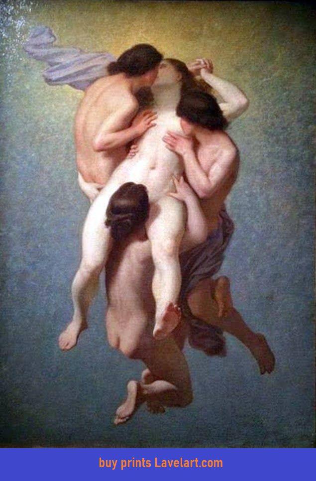 The Cursed Woman Painting 1859 Print (La Femme Damnée) by Nicolas Francois Octave Tassaert Photo Image