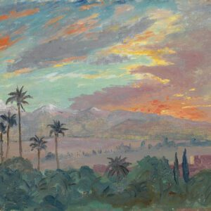 Photo of Sunset Over the Atlas Mountains Print by Winston Churchill
